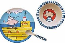Geschirr Kindergeschirr Frühstücksset 3-teilig