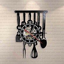 Geschirr Küche Kunst Restaurant Schild Wanduhr