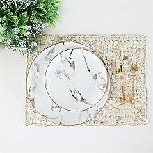 Geschirr Moderne Einfachheit Stil Marmorplatten