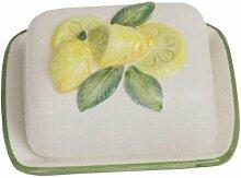 Geschirr-Serie Lemoni Butterdose, weiß gelb, L16 x B12 x H10 cm