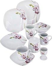 Geschirr Set Orchidee, weiß