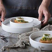 Geschirr Speiseteller Tafelservice 1X Weißes