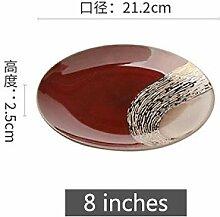 Geschirr Tafelservice Keramische runde
