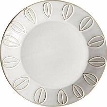 Geschirr Weiße antike Entlastung Keramik Dinner