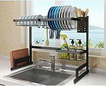 Geschirrablage Regal über Waschbecken, Edelstahl