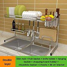 Geschirrschrank 304 Edelstahl Doppelwaschbecken