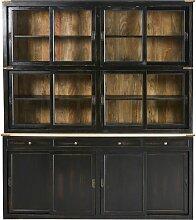 Geschirrschrank mit 12 Türen und 3 Schubladen aus