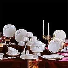 Geschirrset 56 teilig Keramik Geschirr Set