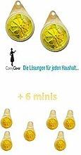 Geschirrspülmaschinen Geruchskiller, 2er Pack Zitronenduft + Aktion 6 Minis