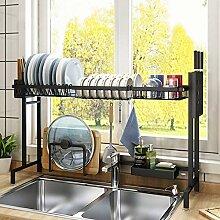 Geschirrtrockner über dem Waschbecken