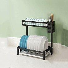 Geschirrtrockner über Waschbecken Abtropffläche