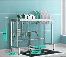 Geschirrtrockner über Waschbecken,