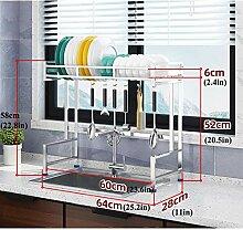 Geschirrtrockner über Waschbecken, Edelstahl