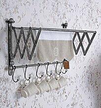 Geschirrtuchhalter Scherenarm Handtuchstange ausziehbar Hakenleiste Palazzo Exklusiv