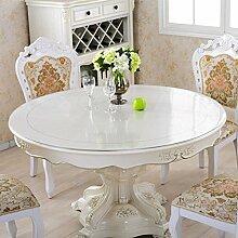 Geschirrtücher Soft GLAS PVC-Tischdecke rund Kunststoff Tischdecke Transparent/Scrub/Kosmos/Box Öl-/Wasserfest Schmutzabweisend und Schimmel - Nachweis (Farbe: Round-Transparent 3 MM, Größe: 90 cm)
