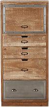 Geschlossener Küchenschrank mit 4 Schubladen aus
