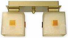 Geschmackvolle Deckenlampe Gold Weiß Bauhaus E27