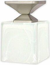 Geschmackvolle Deckenleuchte Weiß Silber Bauhaus