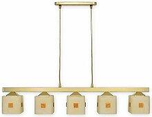 Geschmackvolle Hängeleuchte Weiß Gold Bauhaus