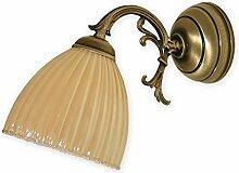 Geschmackvolle Wandleuchte in Gelb Rot Jugendstil 1xE27 bis 60W 230V aus Stahl & Glas Wohnzimmer Esszimmer Lampe Leuchten innen Beleuchtung