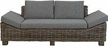 Geschmackvolles Rattan-Sofa aus ungeschältem