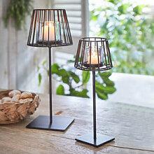 Geschmiedete Stehlampe mit Windlichtglas