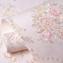 Geschnitzte tapete,Wasserdicht selbstklebend für wohnzimmer wand papier schlafzimmer warm pastorale 3d hintergrundbild wallpaper-G