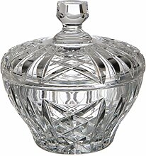 Geschnitztes böhmischen Glas Bonboniere, Glas,