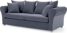 Geschwungenes 3-Sitzer Sofa, grau