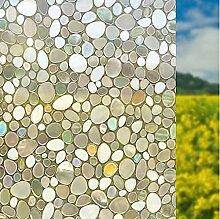 Geseni Fensterfolie Sonnenschutzfolie Milchglasfolie Glasdekorfolie Tönungsfolie Klebefolie selbstklebend Fensteraufkleber Kieselstein 45x200cm 04