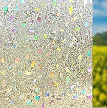 Geseni Window Film Sichtschutzfolie Milchglasfolie Fensterfolie Klebefolie Sonnenschutzfolie Selbstklebefolie Aufkleber Farbige Steine 45x200 05
