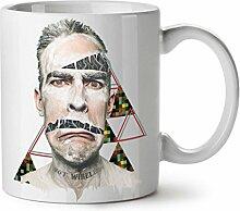Gesicht Drucken Gestalten Muster Weiß Tee Kaffee Keramisch Becher 11 oz   Wellcoda