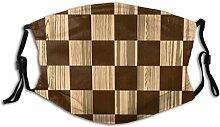 Gesichtsdekoration Leeres Schachbrett Holz Scheint