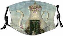 Gesichtsschutz Mundschutz Teekanne Cottage Magic