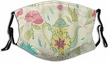 Gesichtsschutz Mundschutz Teetasse und Teekanne