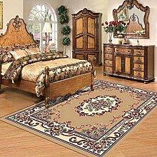 Gesponnener Teppich Europäischer Stil Wohnzimmer Couchtisch Teppich Teppich ( farbe : C , größe : 78*148cm )