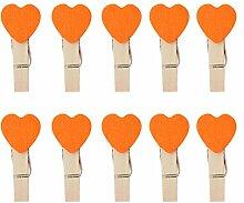 Gespout 1 Set 10 Stück Farbe Herzform