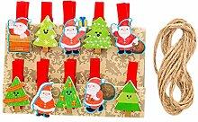 Gespout 10 Stück Deko Weihnachtsdekoration
