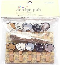 Gespout 10 Stück Mini Farbe Foto Craft Clip DIY
