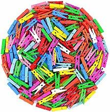 Gespout 100 Farbmischung Dekor Holzklammern