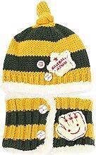 Gespout Baby Niedlicher Hut Babymütze Strickmütze Winter Baby Hüte Kinder Warm Mütze Mädchen Jungen Hut Caps für Baby