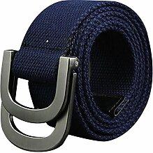 Gespout Einfarbig Leinwand Gürtel Unisex Metall Schnalle Gürtel Freien Casual Gürtel für Männer und Frauen Ausbildung Gürtel