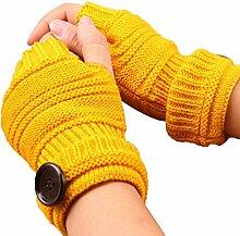 Gespout Gestrickte Handschuhe Männer und Frauen Herbst und Winter Halber Finger Warme Handschuhe Kurze Handschuhe Armsätze