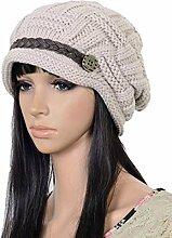 Gespout Mädchen Hüte Mützen Strickmützen Barett Warm halten Hut Caps für Damen Stricken Häkeln Hut Wintermütze Plüsch Warmer Hu