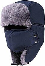 Gespout Männer und Frauen warme Winterverdickung Schneehut Fahrt Winddichte Hüte Sturmhauben Warm halten Hut Wintermütze