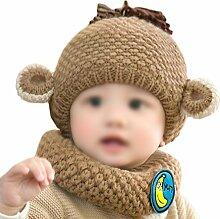 Gespout Unisex Babymütze Winter Baby Strick Mütze Kinder Hüte Warm Mütze Baby Niedlicher Hut Mädchen Jungen Hut Caps für Baby