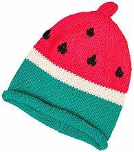 Gespout Wassermelone Strickmütze Baby Niedlicher Hut Caps für Baby Kinder Warm Mütze Babymütze Winter Baby Hüte Mädchen Jungen Hu