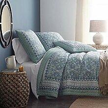 Gesteppter Bettbezug, 3-teiliges Set, Doppelbett,