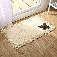 Gestickte Baumwoll-Türmatten, Schlafzimmer-Bett-Teppiche, Bad-Absorptionsmatten , #4 , 60*90cm