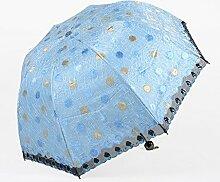 Gestickte Spitze-Regenschirme gebogene Falte Vinyl Sonnenschutz Sonnenschirm Anti-UV ( Farbe : #2 )